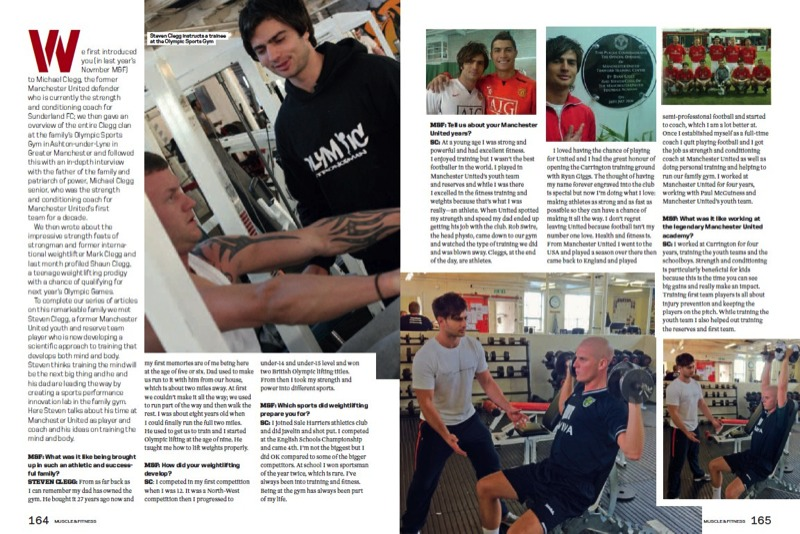 Steven Clegg Muscle and Fitness magazine page 2