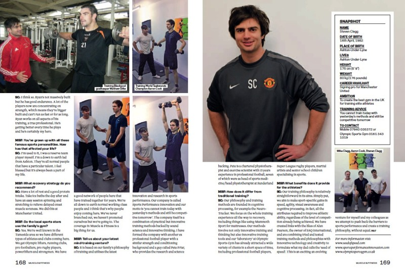 Steven Clegg Muscle and Fitness magazine page 3